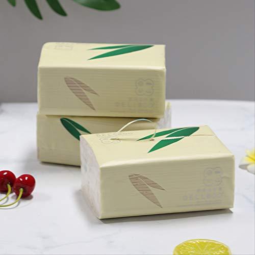 3 Capas 3 Paquetes De Pulpa De Bambú Color Natural Papel Higiene Bebé Especial Extracción De Papel Hogar Papel Higiénico Asequible Papel Higiénico Papel Higiénico