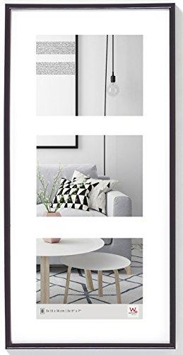 walther design KB338S Galeria Kunststoffrahmen -Galerie 3 Bilder, 3 (13 x 18 cm), schwarz