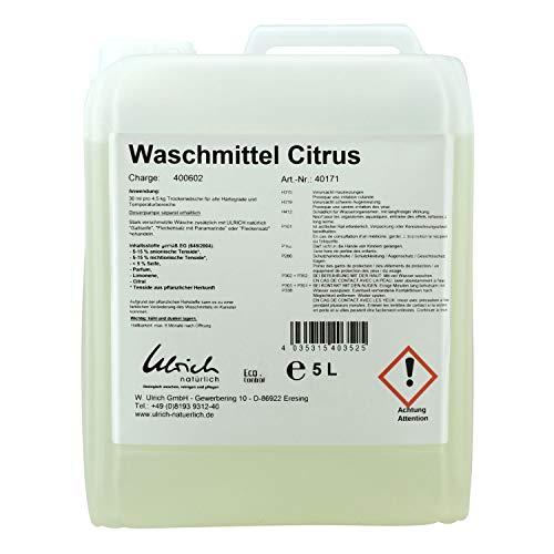 Ulrich Waschmittel Zitrus flüssig–5000ml