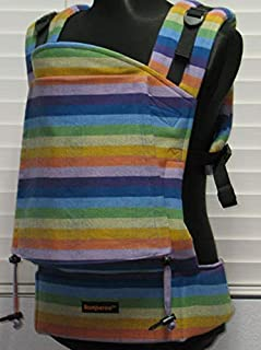 "Bamberoo Custom Baby Carrier Girasol""I believe in rainbows"" (dark weft) Choose your body size and strap length!"