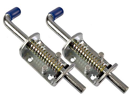 MS-Warenvertrieb 2 Stück Universal Federriegel 170mm Stahl verzinkt - für Anhänger Tore UVM. Heckklappenverschluss