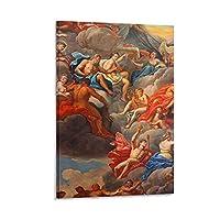 ギリシャ神話に登場するキューピッドのをパロディ化したファンタジー作品ポスター。 キャンバスポスター寝室の装飾スポーツ風景オフィスルームの装飾ギフト,キャンバスポスター壁アートの装飾リビングルームの寝室の装飾のための絵画の印刷 16x24inch(40x60cm)