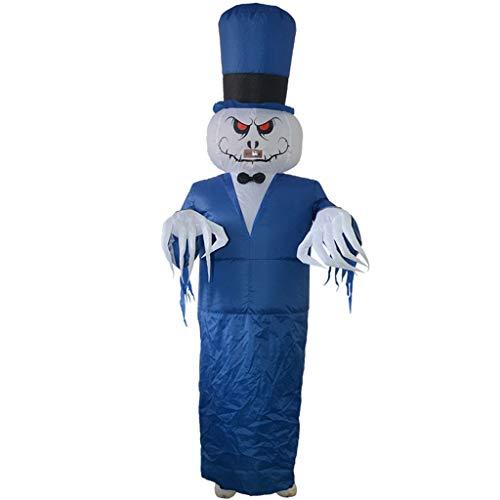 hdgcb Halloween decoración inflable fantasma traje adultos divertido estallar traje Halloween Cosplay ropa