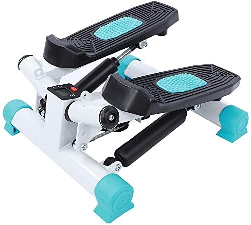 AYNEFY Stepper Fitness per Utilizzo a Casa, Pedaliera da Casa Mini Stepper con Bande di Resistenza e Monitor LCD Multifunzione, Carico: 250lb