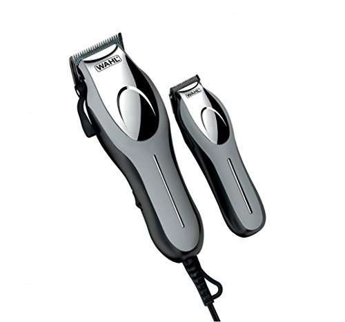 WAHL Cortapelos Profesional para Cabeza FABRICADO EN USA Cuchillas de Acero al Carbono con Auto Afilado Incluye Perfilador Inalambrico para Vello Corporal Facial Tijeras Estuche y Bolsa de Transporte