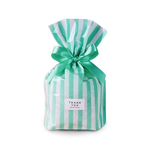 BEAUTOP Plastiktüten für Marshmallow-Kekse, 50 Stück, Plastik, grün, 20 * 8 * 6 cm