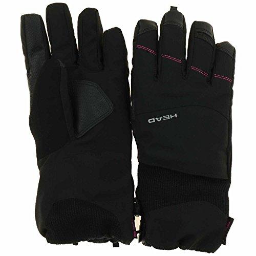 Head Women's DuPont Sorona Insulated Ski Glove With Pocket (Medium, Black/Pink)