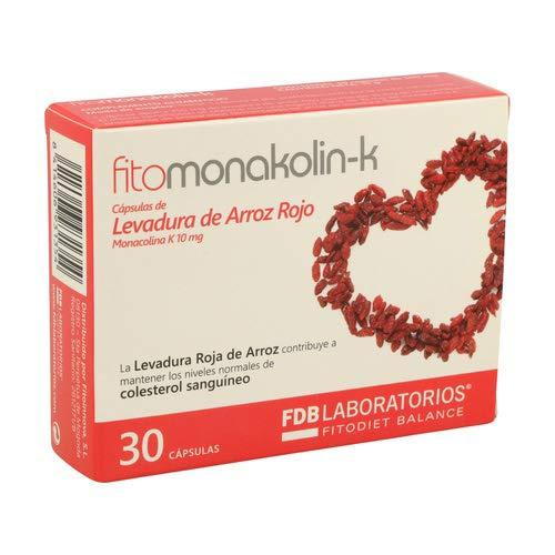 Fdb Fitomonacoline K gist, rijst, rood, 30 capsules
