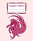 Composition Notebook: Wide Ruled Composition Notebook Journal For School Office or Home, Cute Unicorn With Writing Notes