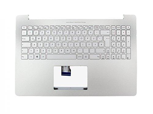 ASUS Tastatur inkl. Topcase DE (deutsch) Silber/Silber mit Backlight Original 90NB0871-R31GE0 N501JW / ROG G501JW / ZenBook UX501JW, UX501LW