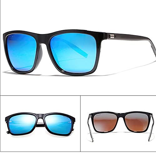 Amethyst Gafas de Sol polarizadas de Metal para Exteriores con Rayos de protección UV400 Es Adecuado para Compras, conducción, Pesca, Deportes y Otras Actividades al Aire Libre,Azul