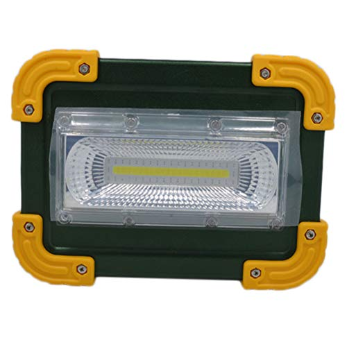 Abaodam 30 W linterna de luz de emergencia noche luz fuerte energía césped lámpara iluminación LED lámpara de trabajo para acampar al aire libre viaje hogar (sin batería)