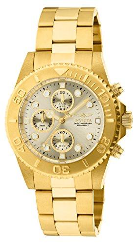 Reloj para Hombre acero inoxidable Cuarzo Esfera champán