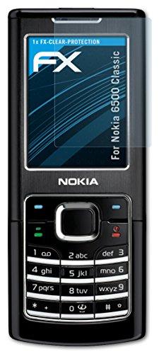 atFoliX Bildschirmschutzfolie für Nokia 6500 Classic - FX-Clear: Bildschirm Schutzfolie kristallklar! Höchste Qualität - Made in Germany!