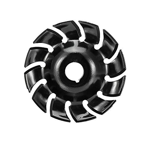 XUQIANG 65 mm Talla de Madera Disco 12 DUSTIENTO 16MM Ajuste DE Agujero DE Agujero Pulido Herramienta DE Entrada Herramientas manuales de carpintería de Bricolaje (Color : Black)