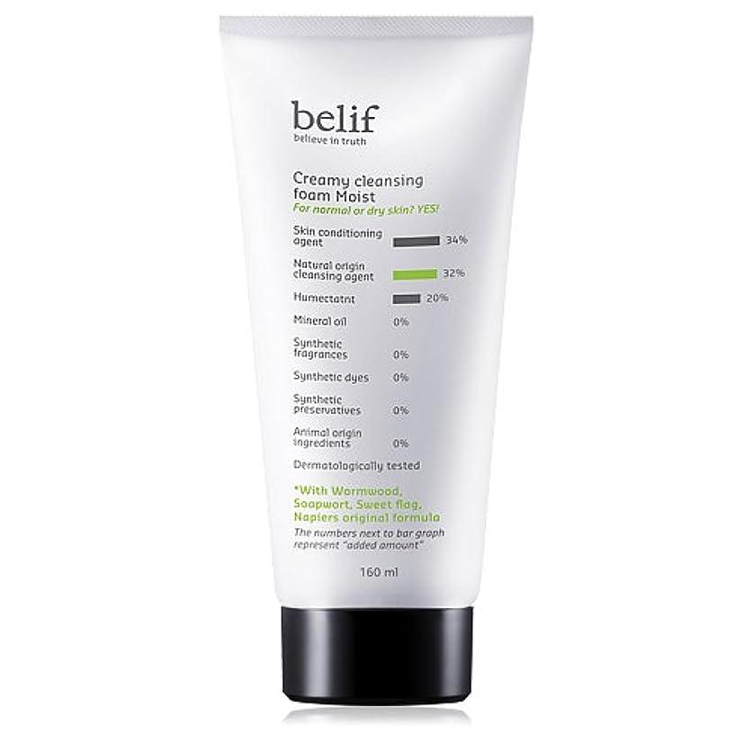 富豪ボランティア潤滑するBelif(ビリーフ)Creamy cleansing foam moist 160ml[ビリーフクリーミークレンジングフォームモイスト]