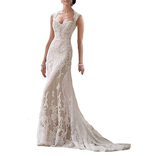 ELEGENCE-Z bruidsjurk, vrouw V Mermaid lace bruidsjurken voor de bruid