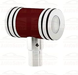 Autosun Momo M2 Aluminium Hammer with Sporty Handle Gear Shift Knob for Universal Car (Red,AS-M2-KNOG-2)