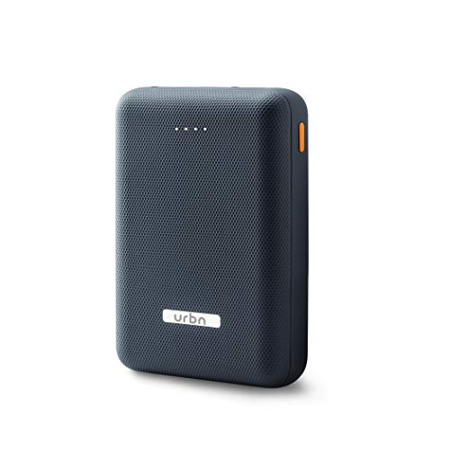 URBN 10000 mAh Li-Polymer Ultra Compact Power Bank with 12W Fast Charge (Blue)