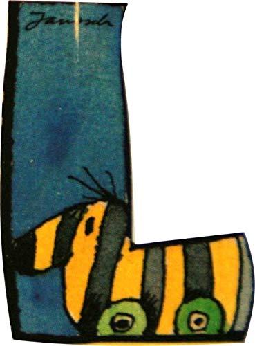 Janosch Buchstaben Holzbuchstaben L ca. 6cm