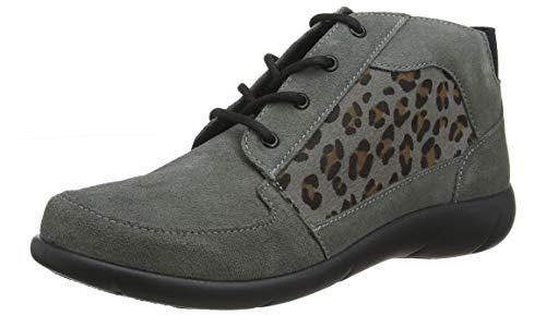 Hotter Damen Marie Kurzschaft Stiefel, Grau (Urban Grey-Leopard 389), 43 EU