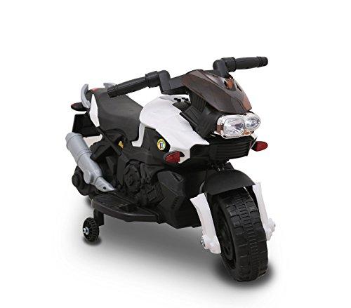 Moto elettrica BIANCA LT868 per bambini