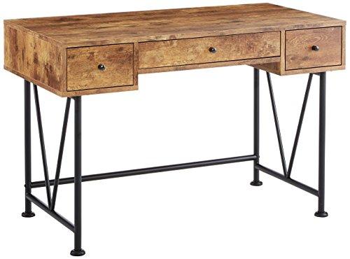 Glavan 3-Drawer Writing Desk with Antique...