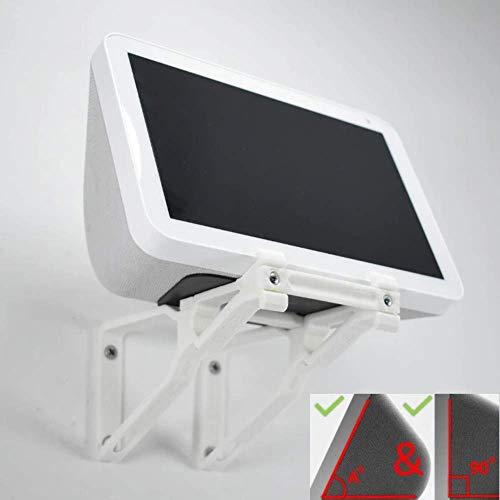 Echo Show 8 - Soporte de pared ajustable para montaje en pared, multifunción, vertical y en ángulo