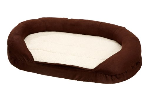 Karlie Hundebett Ortho Bed oval, 100 x 65 x 24 cm, braun