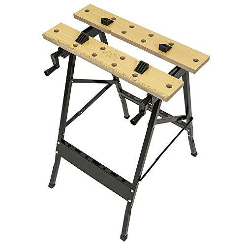 TecTake Werkbank A Gestell klappbar Tisch mit Klemme - 3