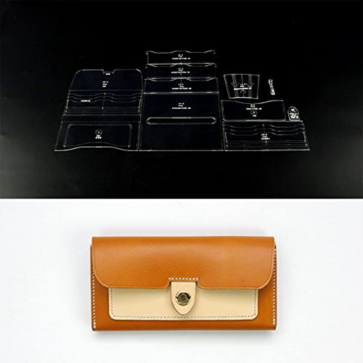 NW Card Holder Acrylic Template Leather Pattern Acrylic Leather Pattern Leather Templates for Card Bag (B007)