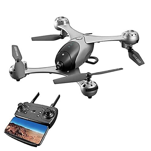 Drone con videocamera per Adulti Drone con videocamera Live 4K HD, Controllo dei gesti, Volo in Cerchio, Rotazione ad Alta velocità, Mantenimento dell'altitudine, modalità Senza Testa, per Bambini,