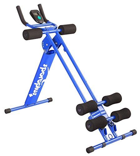 SportPlus Bauchtrainer, klappbarer Bauchmuskeltrainer, Verschiedene Schwierigkeitsstufen, effektives Bauchmuskeltraining, Nutzergewicht bis 100kg, Sicherheit geprüft, SP-ALB-011