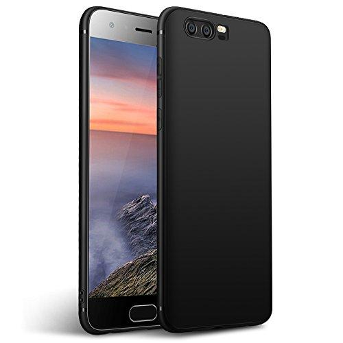 Olliwon Huawei Honor 9 Hülle, Dünn Leichte Schutzhülle Schwarz Silikon TPU Bumper FeinMatt FederLeicht Tasche Hülle Cover für Huawei Honor 9 - Schwarz
