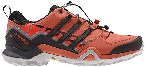 adidas Herren Terrex Swift R2 GTX Freizeitschuhe und Sportbekleidung, Schwarz (Amber Glory/SOLAR RED/Grey Zwei F17), 43 1/3 EU