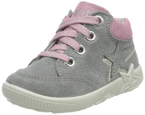 Superfit Jungen Mädchen Starlight Sneaker Lauflernschuh, HELLGRAU/ROSA 2500, 19 EU