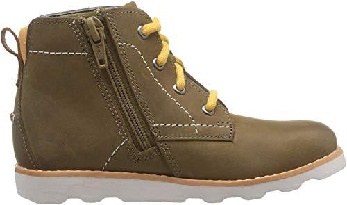 Clarks Jungen Crown Hike T Klassische Stiefel, Braun (Tan Leather Tan Leather), 27 EU
