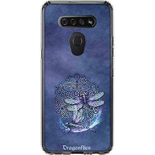 Skinit Clear Phone Case Compatible with LG K51/Q51 - Tate and Co. Dragonfly Celtic Knot Design