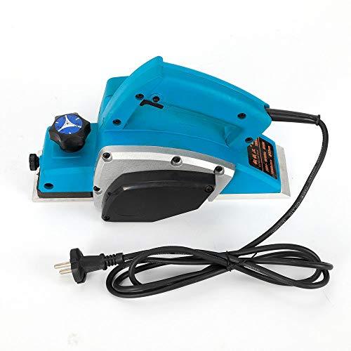 Cepillo eléctrico de profundidad ajustable, 800 W, 11.000 rpm, profundidad de cepillado de 1 mm para procesamiento de madera