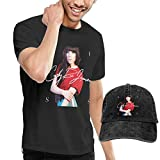 GabrielR Men's Carly Rae Jepsen Kiss Tees Washed Denim Baseball Dad Hats Black XXL