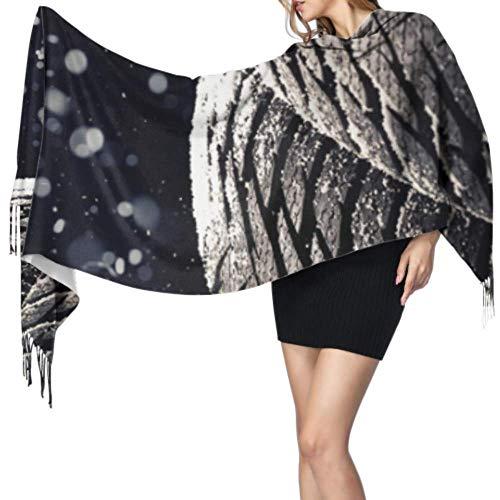 Damen Wrap Shl Regen Autoreifen Wassertropfen Schals Kaschmir für Frauen Körper Shl Wrap Stilvolle große warme Decke