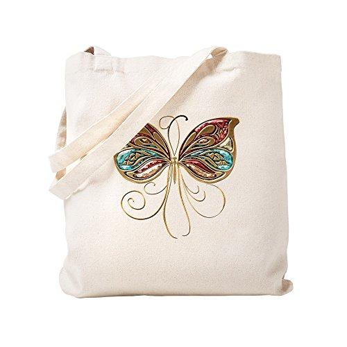 CafePress Innocences Einkaufstasche mit Schmetterlingsmotiv, canvas, khaki, S