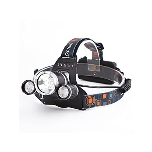 CHANGXINBH - Torcia a testa con sensore IR a LED Smart Light 5/3 T6 Zoom ad alta potenza ricaricabile lanterna da pesca 18650 torcia impermeabile (colore emittente: pacchetto C)