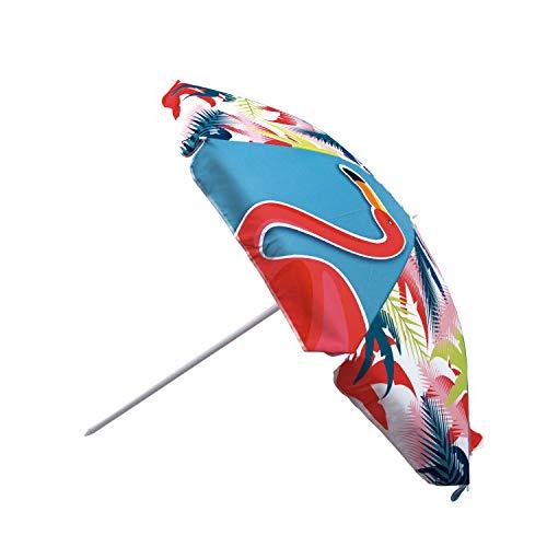 ARDITEX ZK50319 Sombrilla de Playa con Funda de 160cm de diámetro de ZASKA-Flamingo