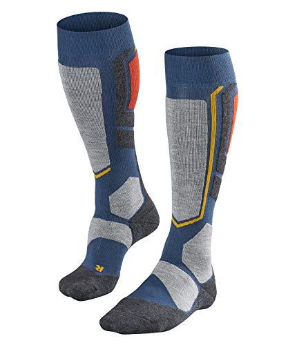 FALKE Heren SB2 Snowboarden Knie-Hoge Sokken - Wol Blend, Meerdere kleuren, UK maten 5.5-12.5 (EU 39-48), 1 Paar - Warm, ademend, gedempt, snel zweet afvoeren en drogen
