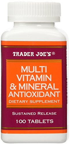 Trader Joe's Multi Vitamin & Mineral Antioxidant 100 Tablets