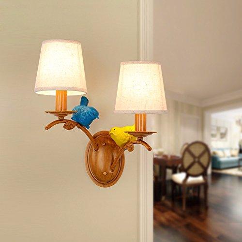 Modern LED Wandleuchte Retro wandleuchte doppelkopf schlafzimmer vogelhaus nachttischlampe gang bar flur wandleuchte Vintage Retro Café Loft Bar Flurlampe, Wandlampe Upaus Aluminium für Flur.
