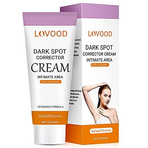 LOVOOD Dark Spot Corrector Cream - Underarm, Neck, Armpit, Knees, Elbows, Private Areas, Intimate Areas - Upgraded Formula, Instant Result 2 fl.oz