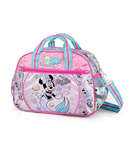 J. M. Inacio, Lda Disney´S Minnie Mouse Bolsa Deporte 38x27x17 cm Bolsa de Entrenamiento Bolsa de Viaje Niñas Niños Escuela Sirenita