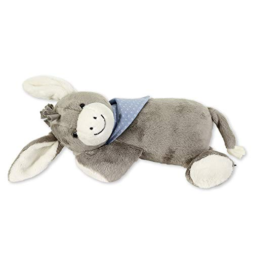 Sterntaler Schlaf-gut-Figur Esel Emmi (DE 3102000) mit integriertem Herztonmodul, Für Babys ab der Geburt, Grau/Hellblau